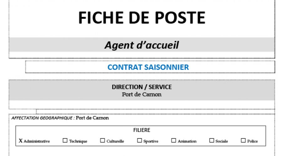Offre: Agent d'accueil (H/F)