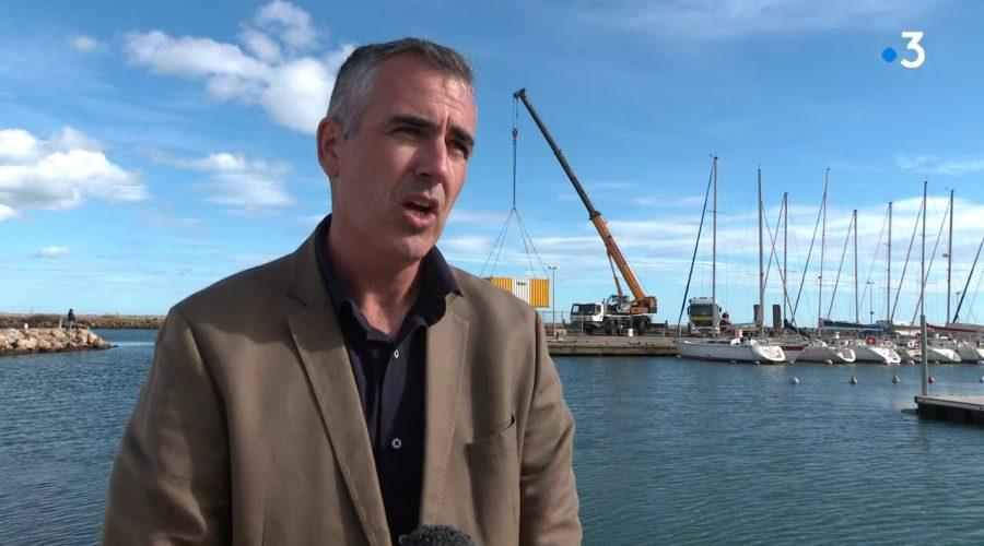 Près de Béziers, le port de Valras-Plage est en travaux pour s'adapter à l'évolution de la plaisance